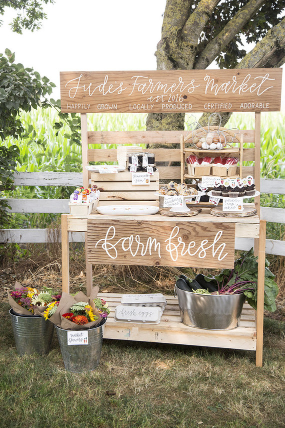 Farmer S Market 1st Birthday Party Wedding Amp Party Ideas