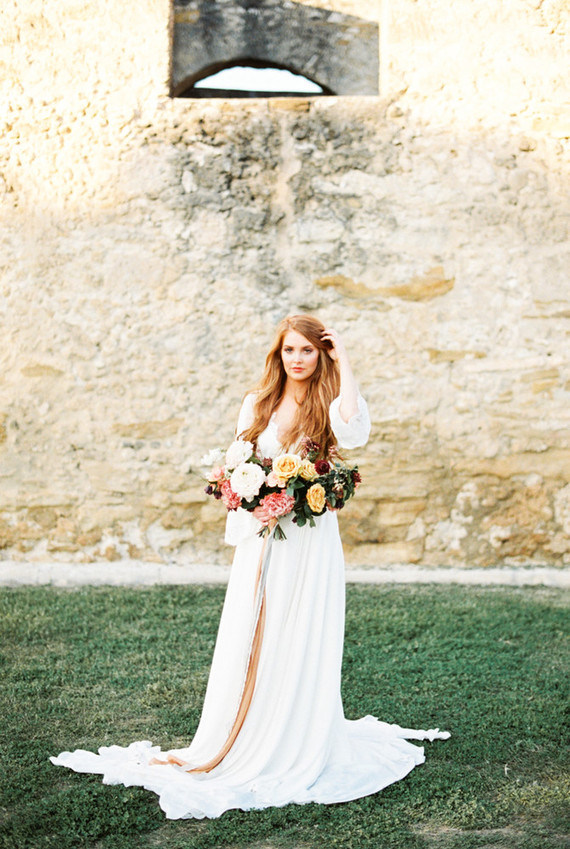 Romantic ruins bridal editorial