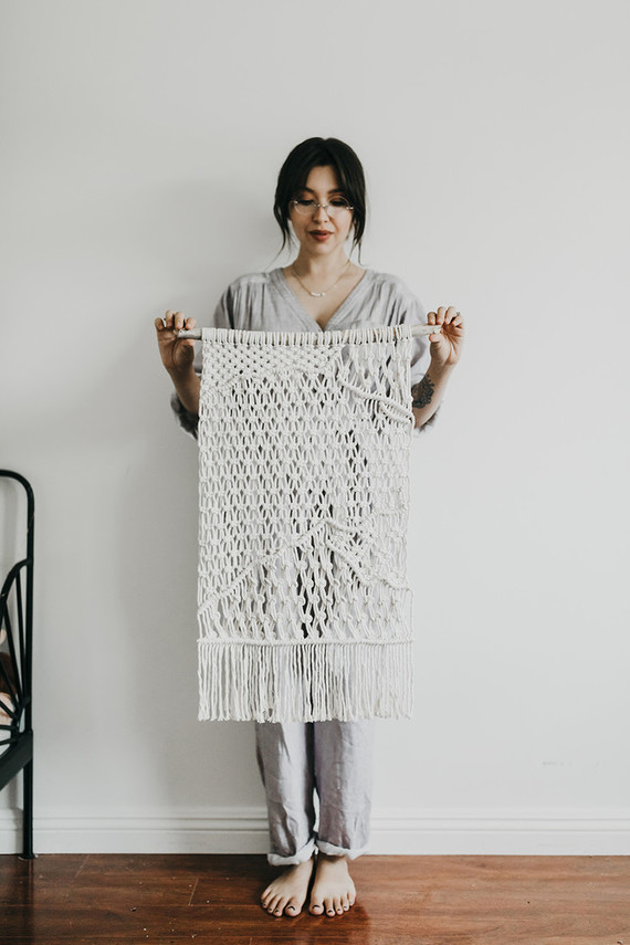 At home family session with macrame artist Judah Co.