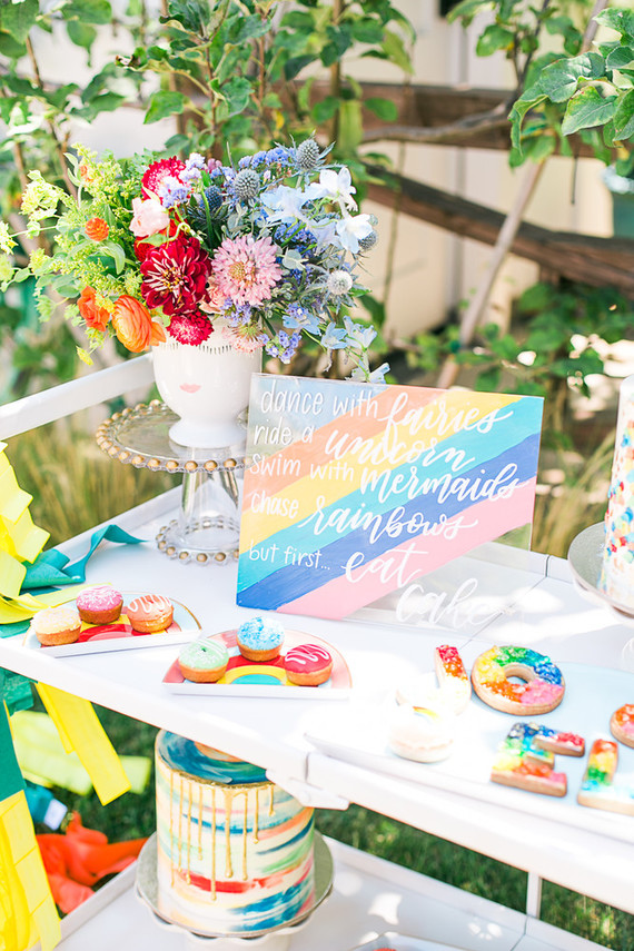 Rainbow birthday party