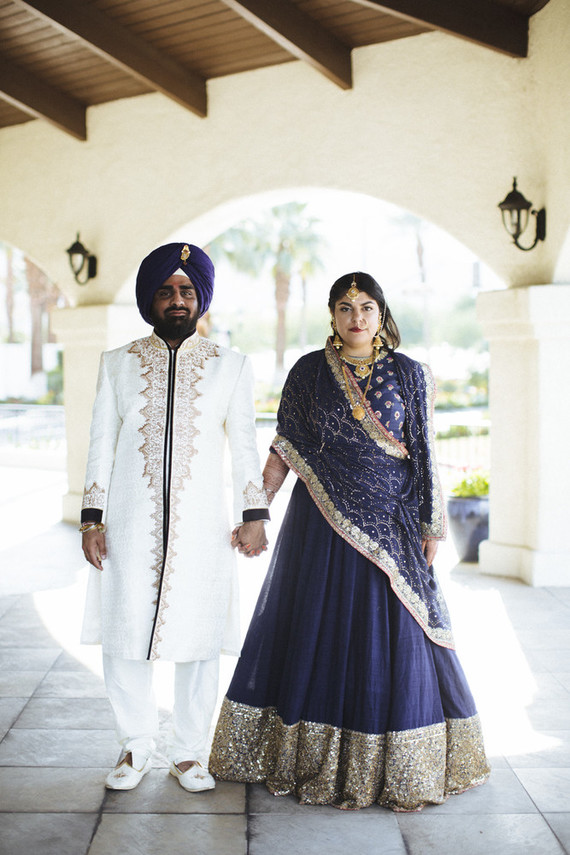 Modern desert Indian wedding celebration