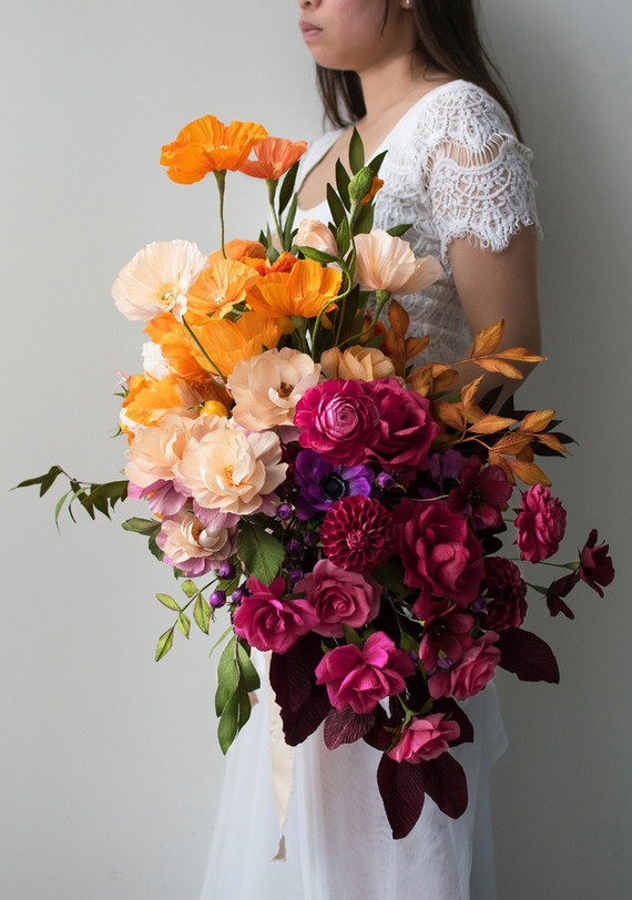 Previous Ombre Fall Paper Flower Bouquet