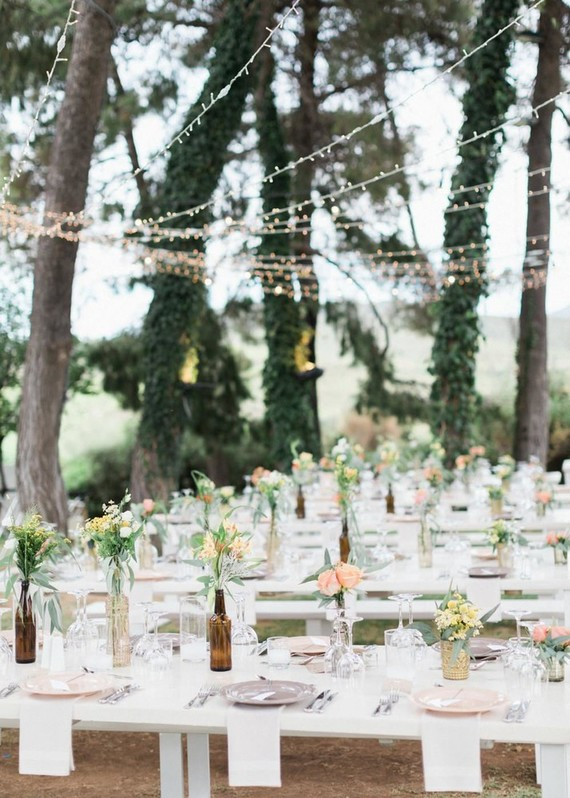 DIY backyard summer wedding in Athens, Greece