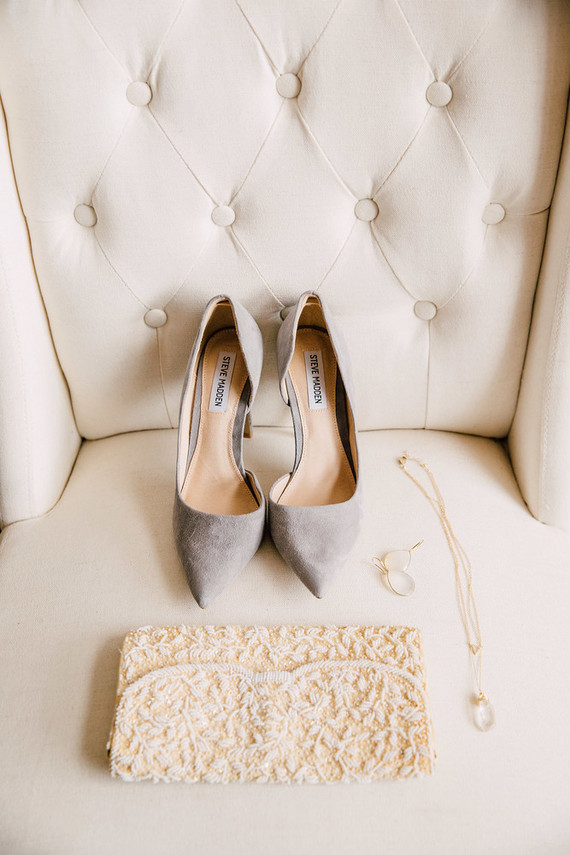 winter neutral wedding accessories