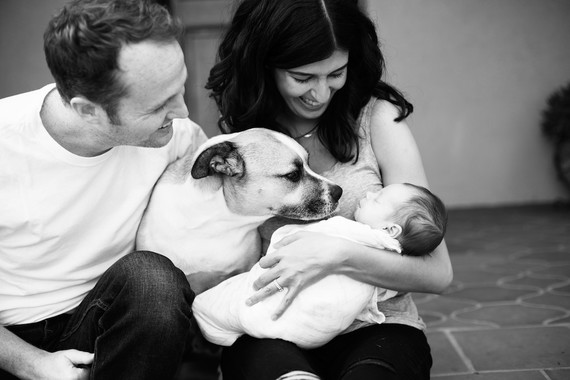 Casual Echo Park newborn photos by Amanda Gallant