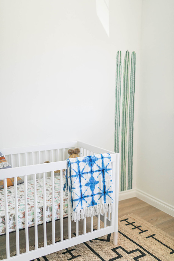 minimal white boy's nursery ideas