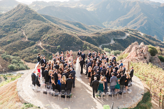Romantic bright California wedding at Malibu Rocky Oaks