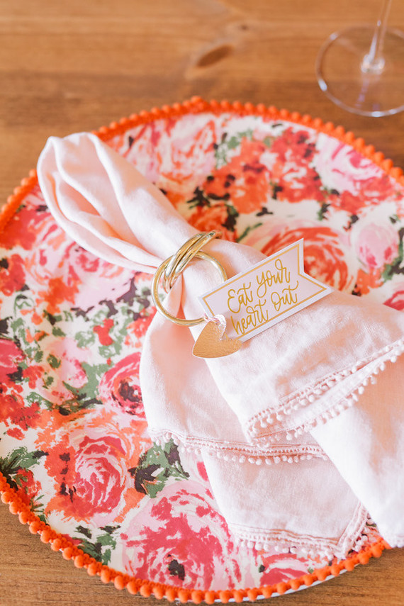 Floral place setting