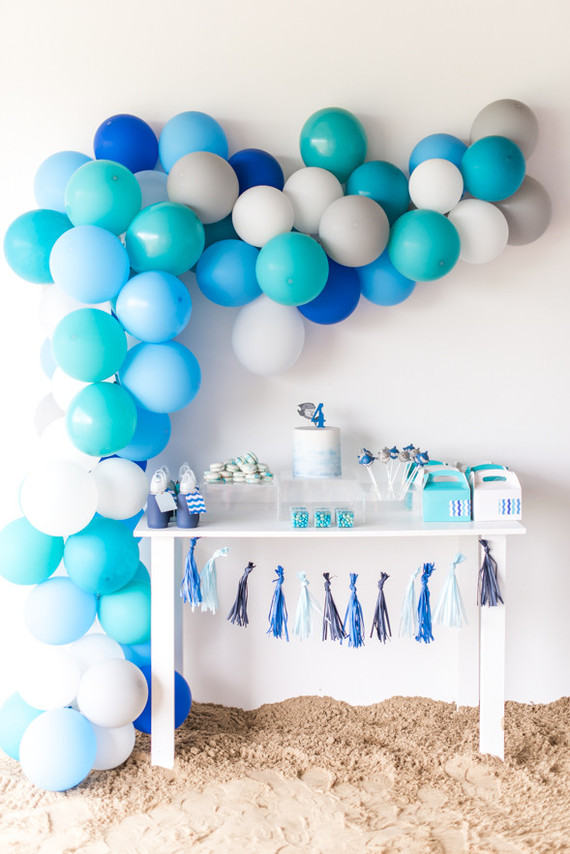 boys beach themed birthday party
