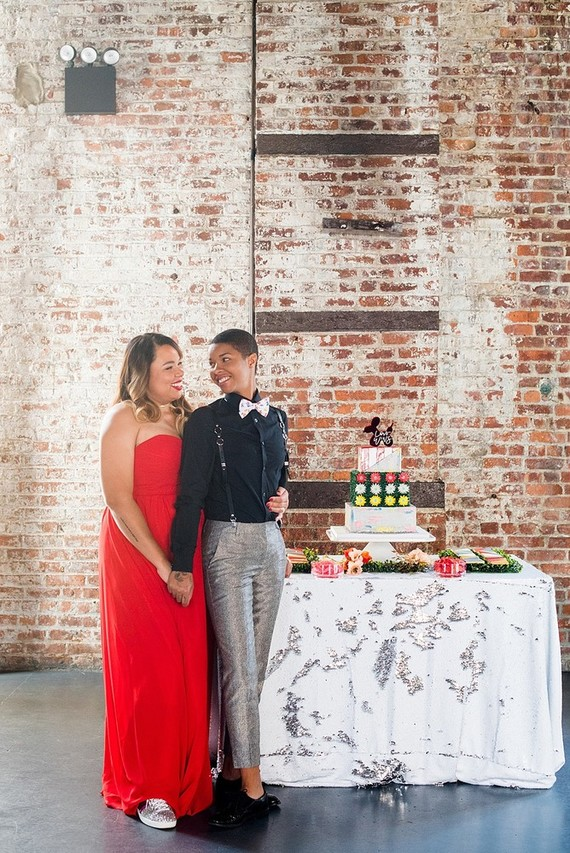 Pop Art inspired LGBTQ wedding editorial at The Green Building in NYC