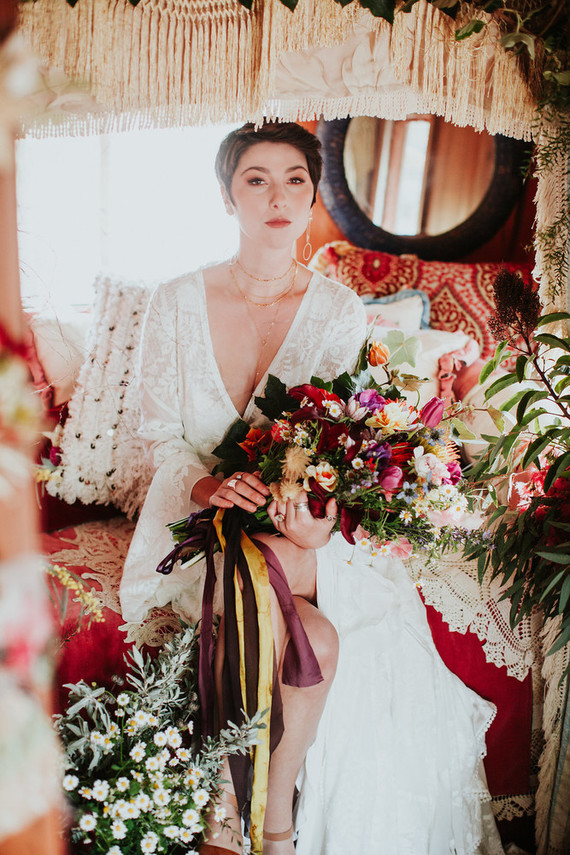 Bright floral nomadic wedding inspiration in Edna Valley