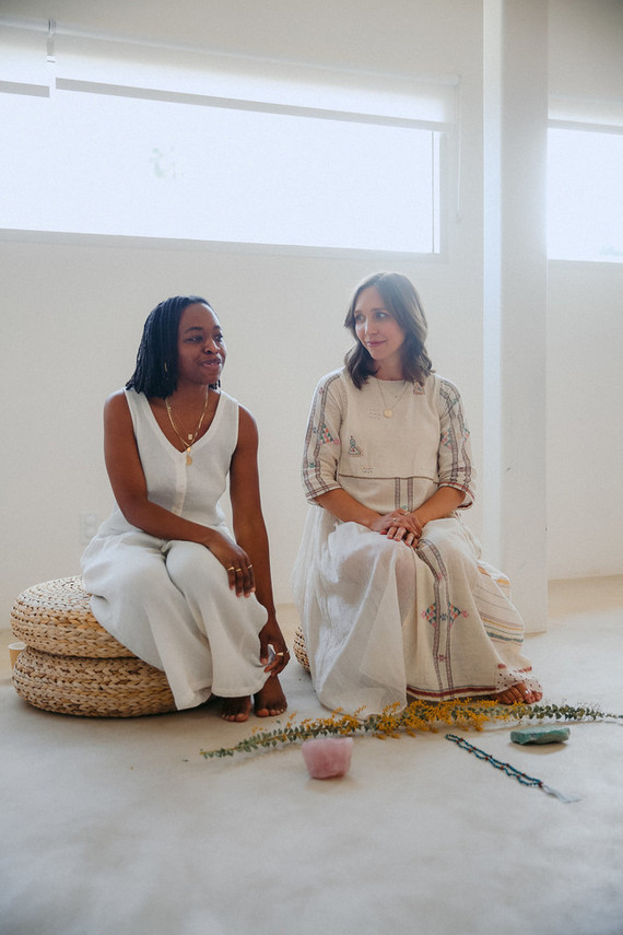 A baby blessing with Erica Chidi Cohen at Loom in Los Angeles