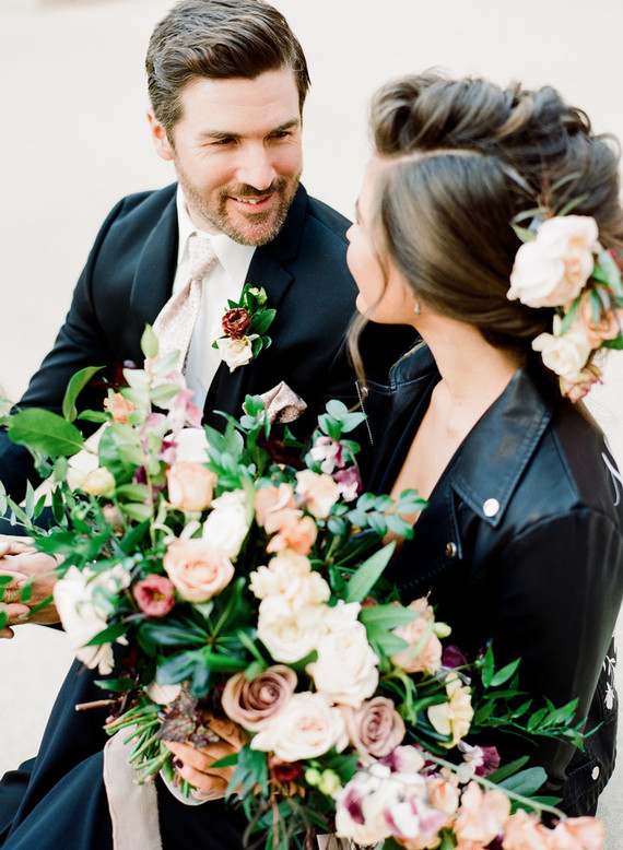 Black and mauve wedding inspiration at Slate Event Space in St Louis