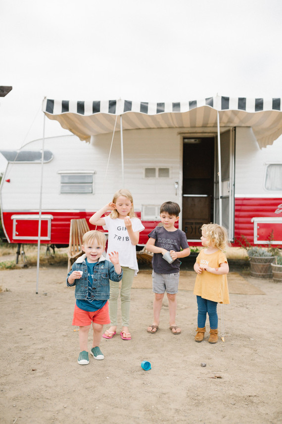 Father's Day camping trip at The Holidays vintage trailers in San Clemente