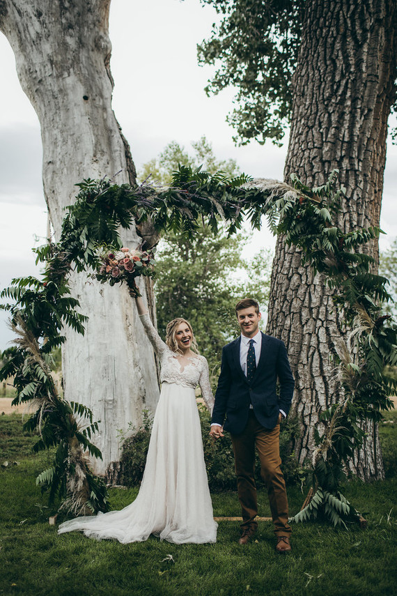 Rustic moody farm wedding inspiration in Bozeman, Montana