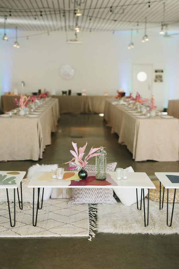 Colorful modern Palm Springs wedding at the Ace Hotel