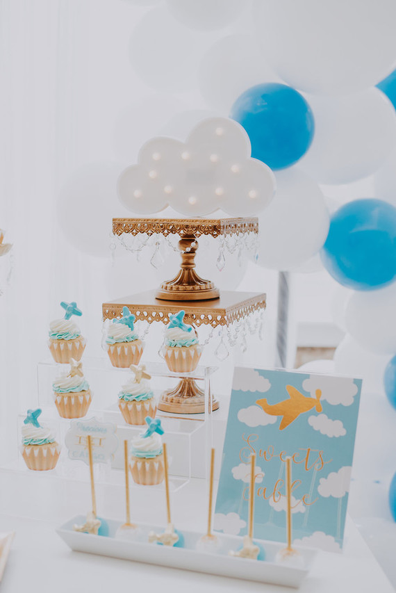 Airplane themed baby shower
