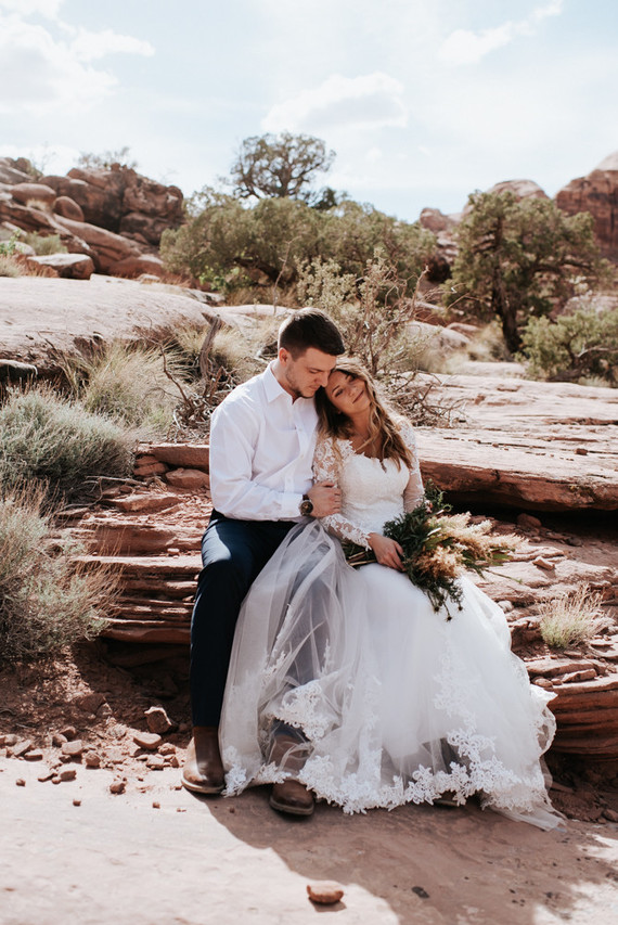 adventurous desert elopement in Moab, Utah