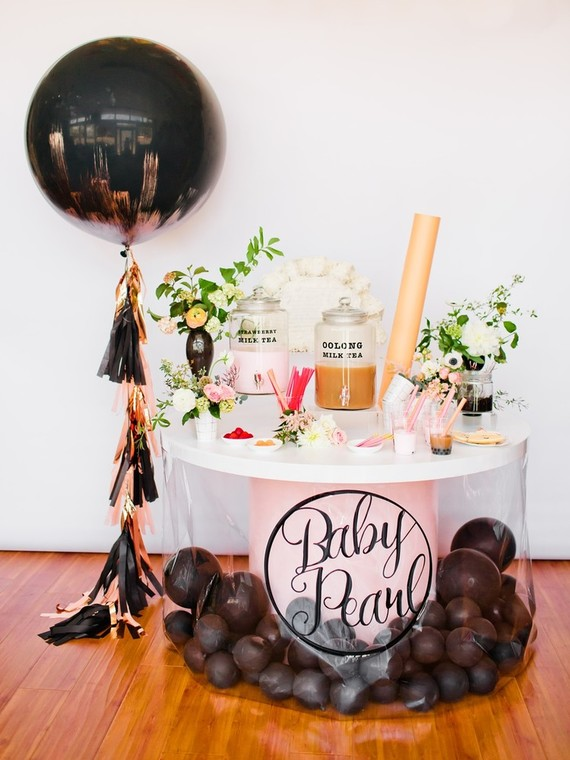 Boba tea themed baby shower