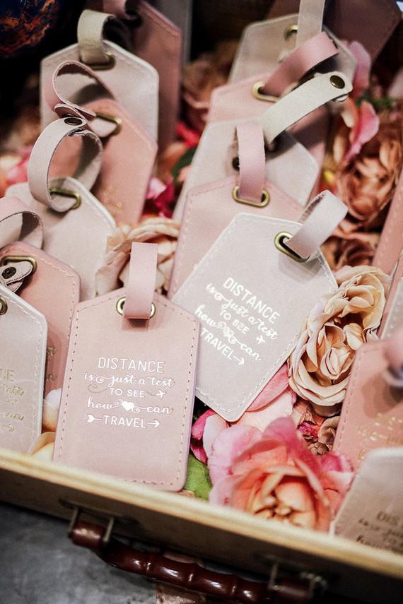Luggage Tag Wedding Favors Wedding Party Ideas 100 Layer Cake