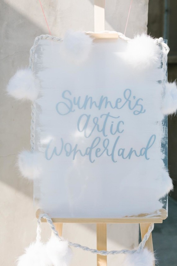 All white arctic wonderland 7th birthday party