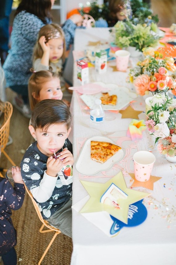 Toy Story and space-themed girl's second birthday party