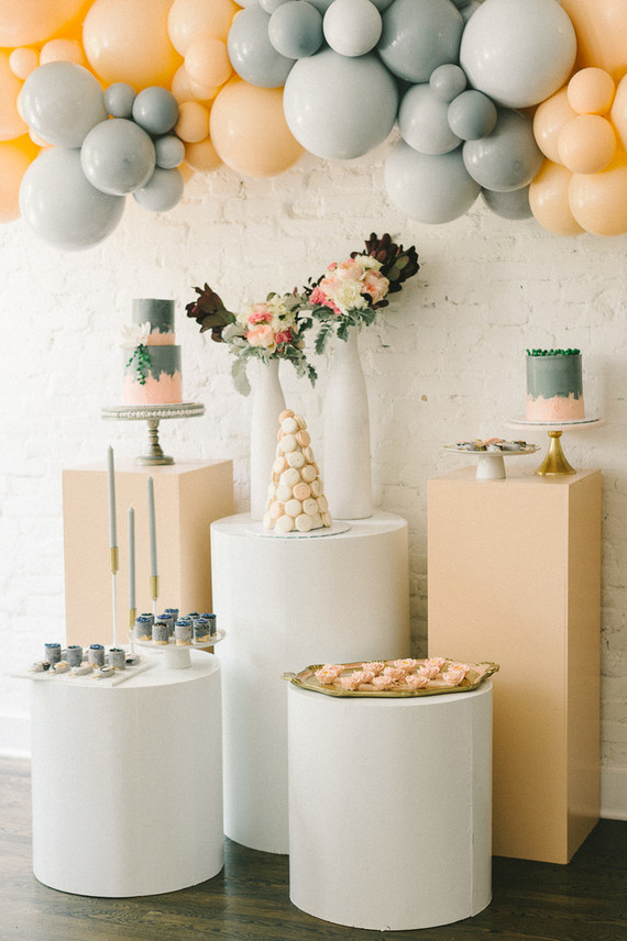 Muted pastel baby girl baby shower by Heirloom DC