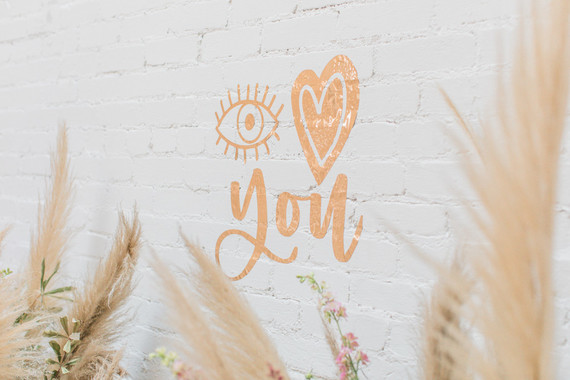 Eye Love You boho kids Valentine's Day party