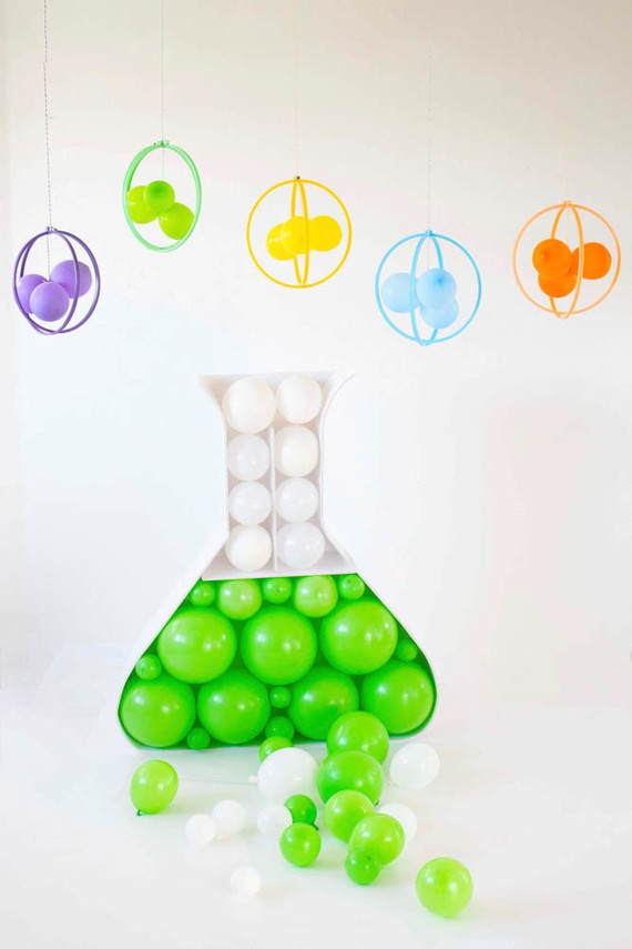 Modern mad scientist themed birthday party ideas