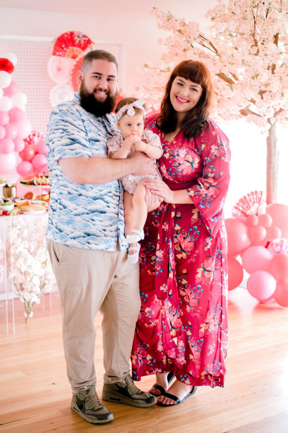 Cherry blossom 1st birthday party