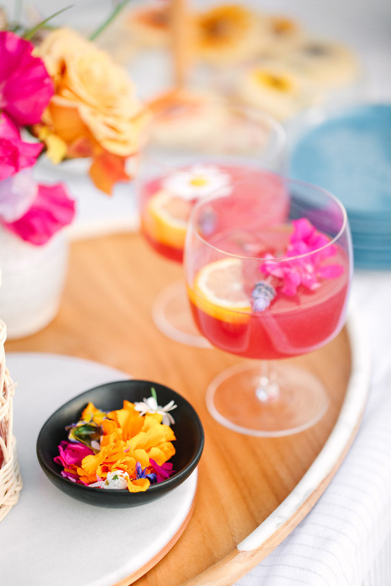 Bright spring cocktail