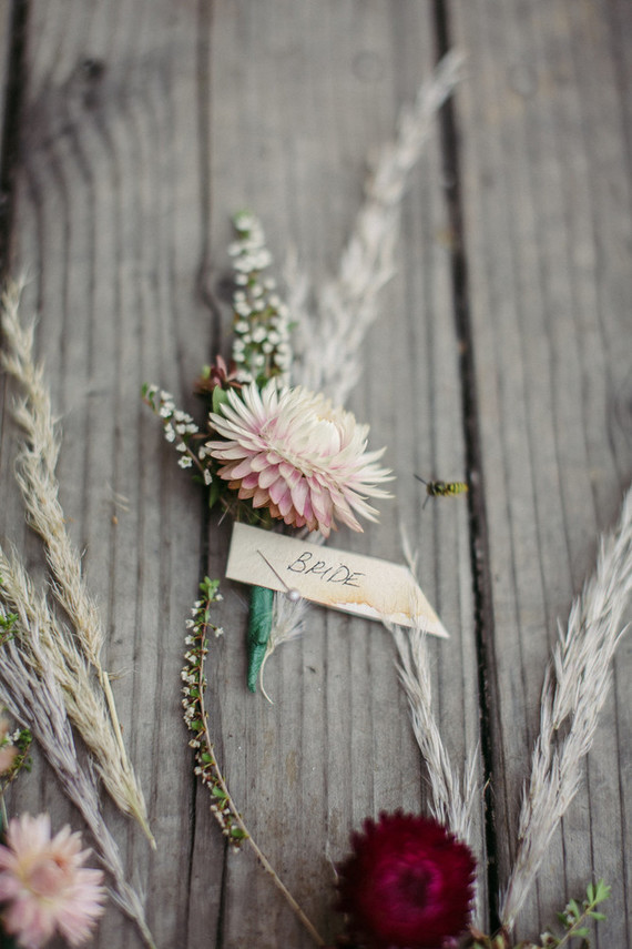 strawflower boutonniere