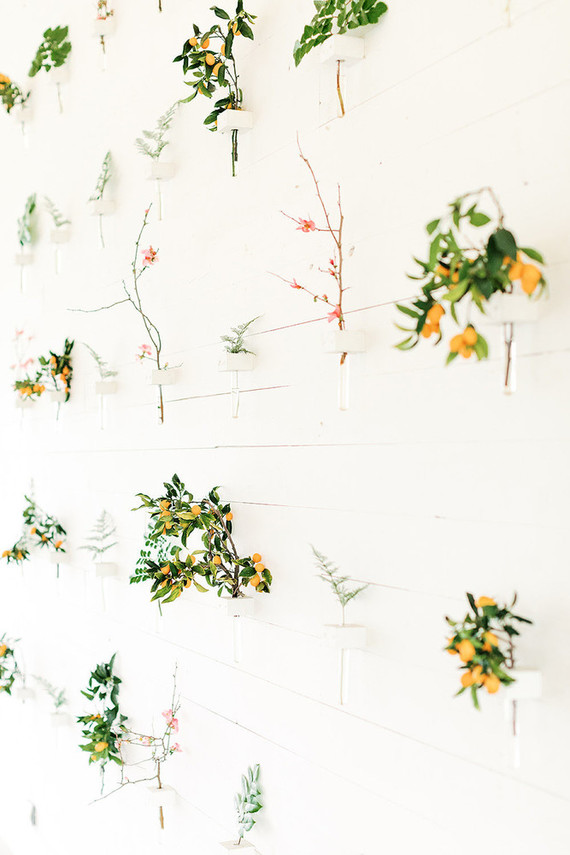 Floral installation wall at the Prospect House Austin TX