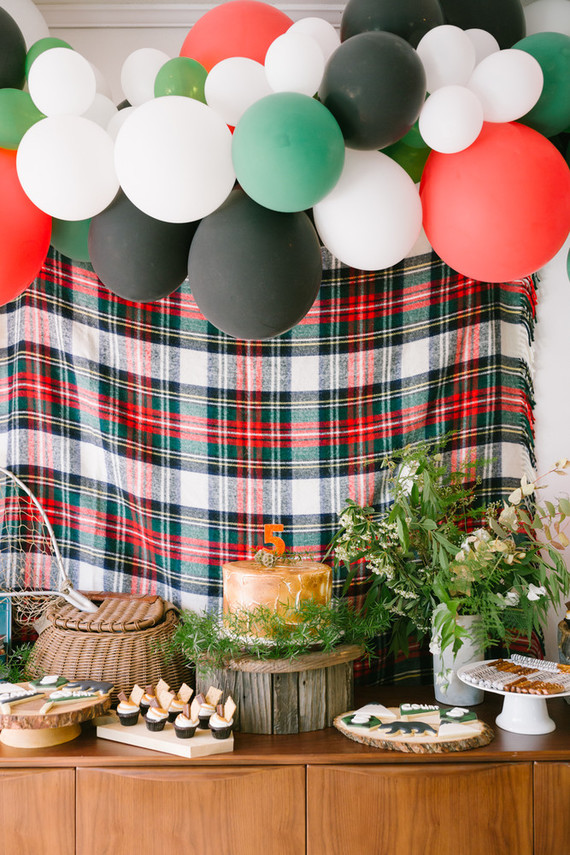 Camp themed dessert table