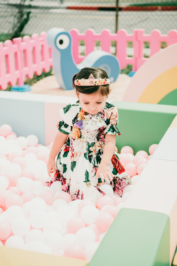 Jewel-themed kids birthday party