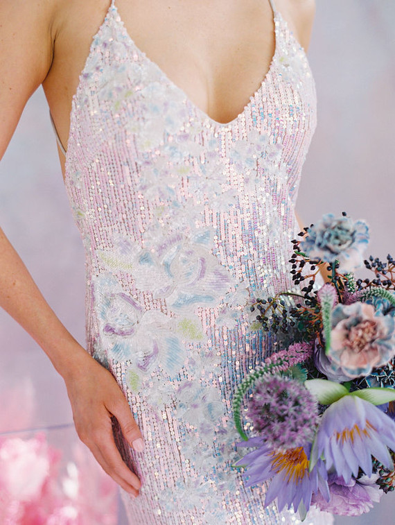 Sequin wedding gown
