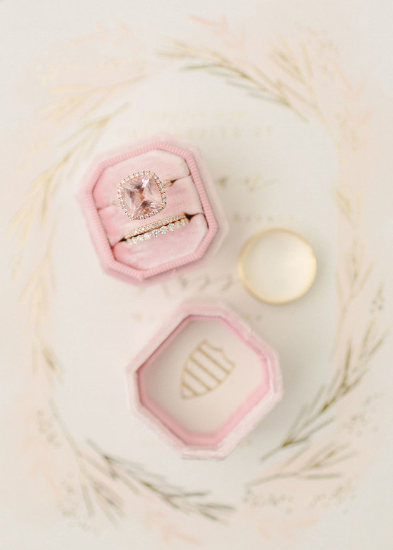 Blush wedding ring