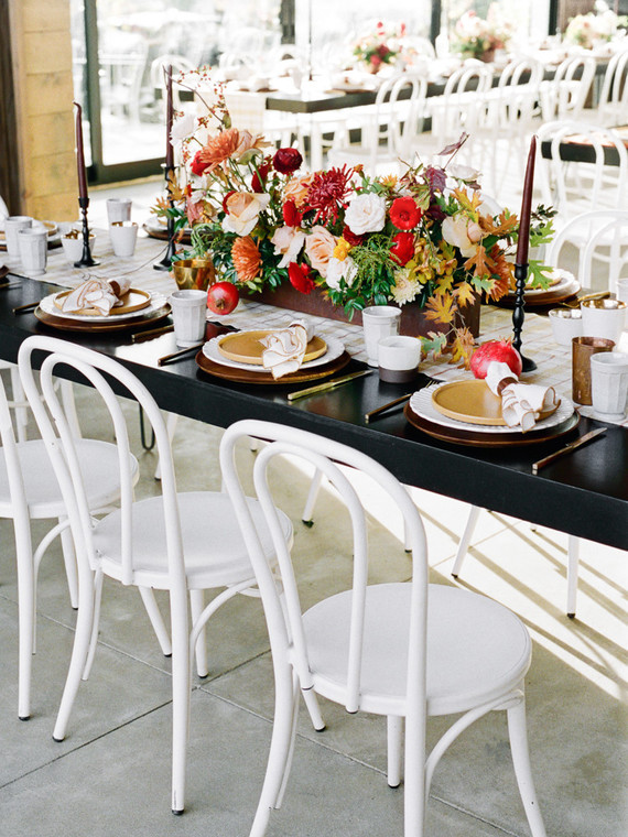 Modern fall tablescape