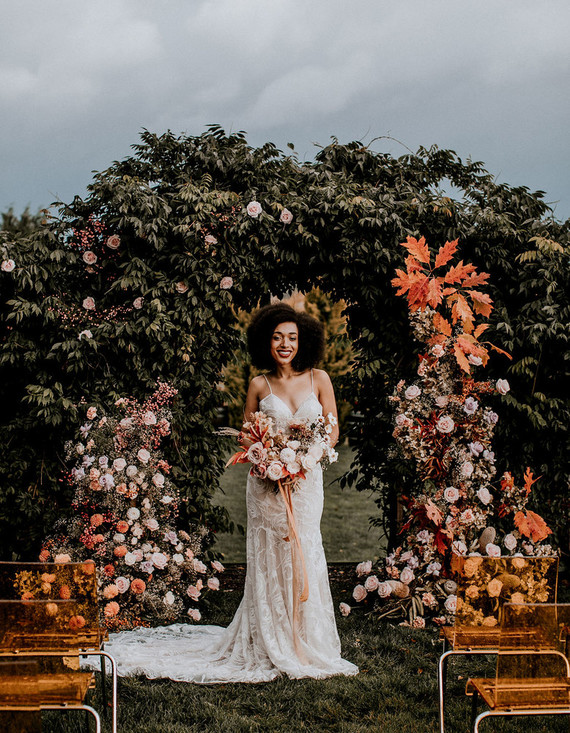 Fall floral bridal inspiration