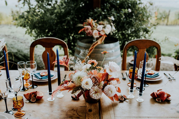 Colorful fall centerpiece ideas