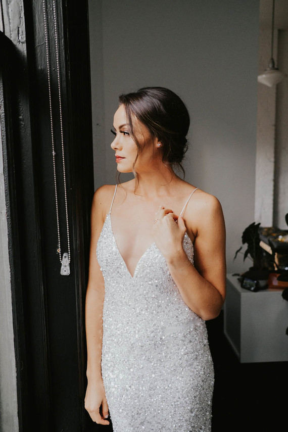 Sequin bridal gown