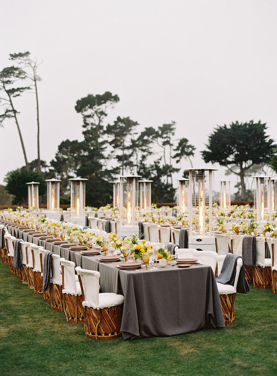 Elegant coastal tablescape