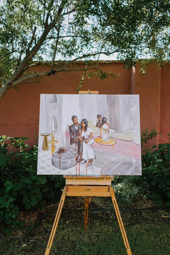live painter at wedding