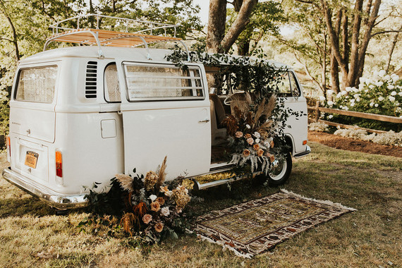 vintage vw van photo booth