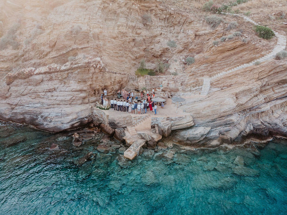Micro wedding in Ios, Greece