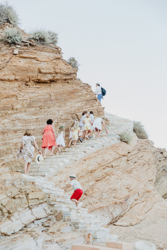 Micro wedding on cliffs of Greece