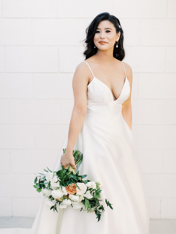 chic modern BHLDN wedding dress