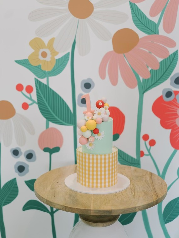 Floral kids birthday party