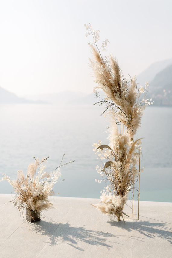 Pampas grass wedding ideas