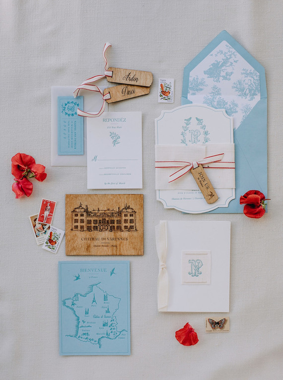 red wedding invites